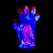 Negative Image Framed Prints - Plastic Glove, Negative Image Framed Print by Kevin Curtis