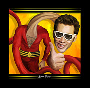 Dc Comics Paintings - Plastic Man by Brett Hardin