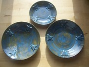 Decor Ceramics - Plate Set by Monika Hood