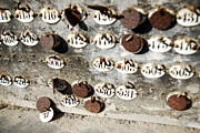 Rusty Photos - Plates with Numbers by Carlos Caetano