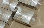 Ingot Prints - Platinum Bars Print by Ria Novosti