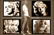 Marilyn Monroe Digital Art - Platinum Collection by Anibal Diaz