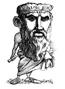 Plato, Caricature Print by Gary Brown