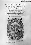 Plato: Title Page Print by Granger