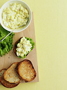 Salad Prints - Platter Of Toast With Egg Salad Print by Cultura/BRETT STEVENS