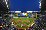 Milwaukee Brewers Prints - Play Ball Print by CJ Schmit