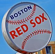 Red Sox Baseball Posters - Play Ball Poster by Donna Shahan