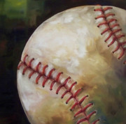 Mlb Painting Posters - Play Ball Poster by Kristine Kainer