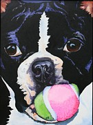 Boston Paintings - Play Ball by Susan Herber