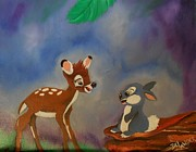 Disney Mixed Media - Play in the meadow by Mary DeLawder
