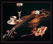Violin Pyrography - Play Me  by Dino Muradian