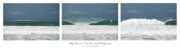 Progression Framed Prints - Playa Hermosa Wave Triptych Central Pacific Coast Costa Rica Framed Print by Michelle Wiarda