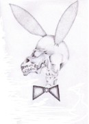 Playboy Bunny Prints - Playboy skull Print by Garrett Wright