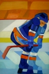 Hockey Painting Framed Prints - Player 1 Framed Print by Yack Hockey Art