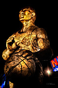 Nba Photo Posters - Player In Bronze Poster by Christopher Holmes
