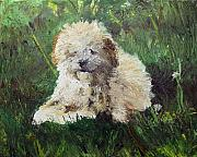 Pallet Knife Art - Playful Companion by Pradeep Bangalore