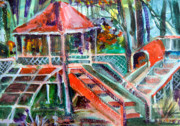 Jungle Drawings Originals - Playground of the Heart by Mindy Newman