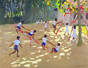 Children Playing Paintings - Playground Sri Lanka by Andrew Macara