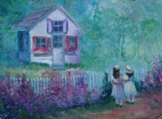Boxes Paintings - Playhouse by Judy Groves