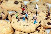 Basketball Digital Art Metal Prints - Playing basketball on cookies II Metal Print by Mingqi Ge