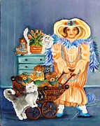 Drawers Painting Posters - Playing Dress Up Poster by Carol Allen Anfinsen