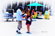 Jazz Digital Art - Playing for a Pretty Girl - New Orleans by Bill Cannon