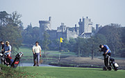 Playing Golf At Dromoland Castle Print by Carl Purcell