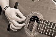 Music Photos - Playing Guitar by Tom Gowanlock