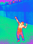 Featured Art - Playing Tennis, Thermogram by Tony Mcconnell