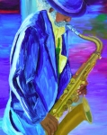 Michael Lee Metal Prints - Playing the blues Metal Print by Michael Lee