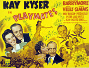 Kelly Photo Prints - Playmates, John Barrymore, Kay Kyser Print by Everett