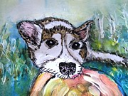 Puppy Mixed Media - Playtime Please by DJ Laughlin