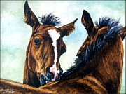 Thoroughbred Horse Art - Playtime by Thomas Allen Pauly