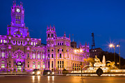 Historic Statue Posters - Plaza de Cibeles in Madrid Poster by Artur Bogacki