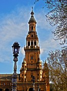 Architektur Metal Prints - Plaza de Espana - Sevilla Metal Print by Juergen Weiss