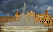 Architektur Metal Prints - Plaza de Espana - Seville Metal Print by Juergen Weiss