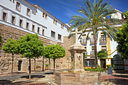 Residential Prints - Plaza de la Iglesia in Marbella Print by Artur Bogacki