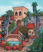 Plaza Jardin Print by Lorraine Klotz