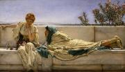 Background Paintings - Pleading by Sir Lawrence Alma-Tadema