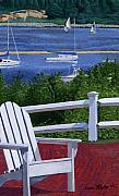 Sailboats Paintings - Pleasant Bay Cape Cod by Dominic White