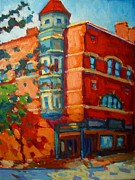 Caleb Prints - Pleasant st Northampton Print by Caleb Colon