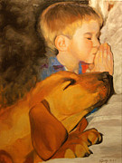 Prayer Painting Originals - Please Bless My Lab by Kenneth Young