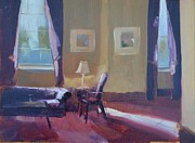 Picture Painting Originals - Please Have a Seat by Patricia Caldwell