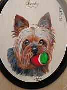 Pet Portraits Pyrography - Please play with me by John Tatham