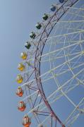 Capsules Posters - Pleasure Town ferris wheel Poster by Andy Smy