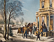 Susan Leggett Acrylic Prints - Pleasures of Winter by Currier and Ives Acrylic Print by Susan Leggett