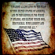 Patriotism Mixed Media - Pledge by Angelina Vick