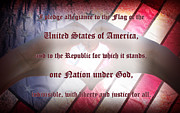 Pledge Of Allegiance Posters - Pledge of Allegiance Poster by Lj Lambert