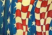4th July Paintings - Pledge Of Freedom  SOLD by Carol Kullberg