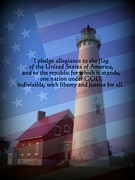 Pledge Of Allegiance Posters - Pledge Poster by Terri K Designs
